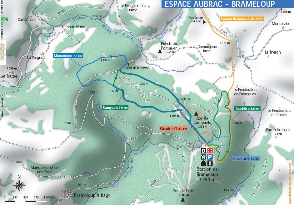 Схема трасс горнолыжного курорта Брамлуп