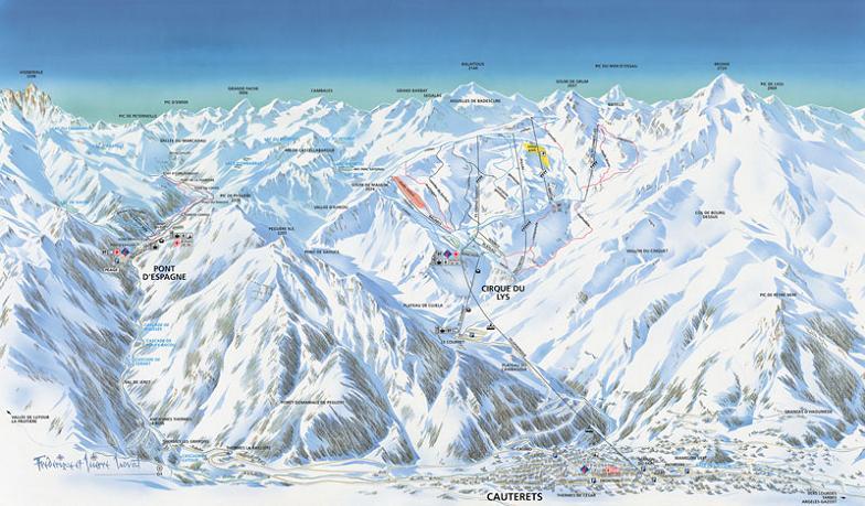 Схема трасс горнолыжного курорта Котре