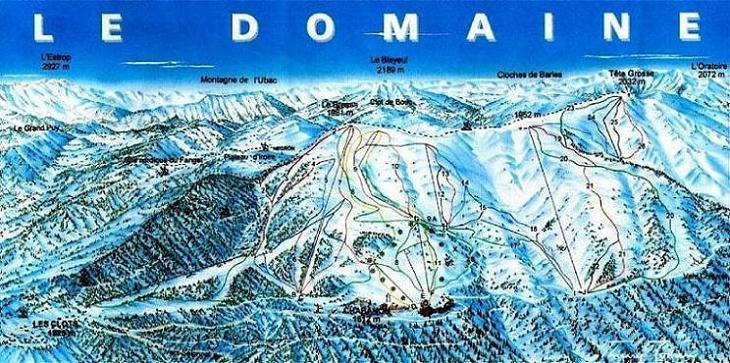 Схема трасс горнолыжного курорта Шабанон