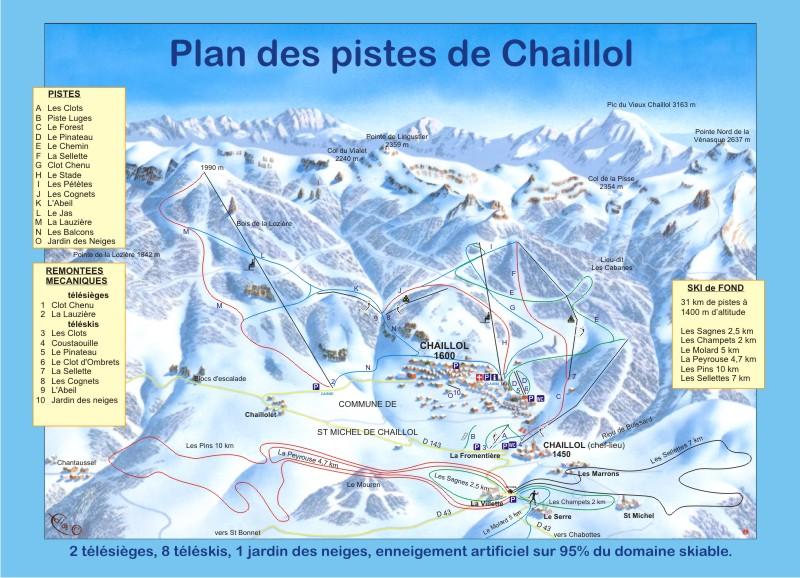 Схема трасс горнолыжного курорта Шайлол