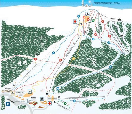 Схема трасс горнолыжного курорта Шальмазель