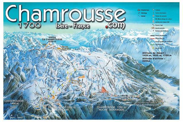 Схема трасс горнолыжного курорта Шамрусс