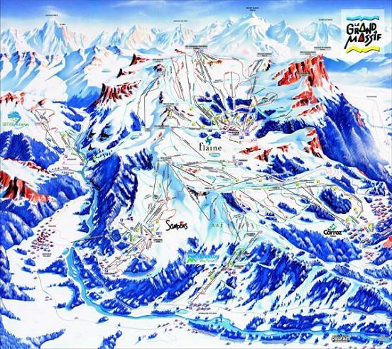 Схема трасс горнолыжного курорта Флэйн