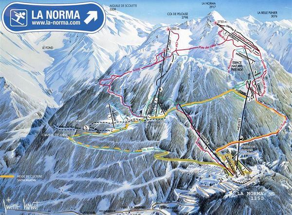 Схема трасс горнолыжного курорта Ла Норма