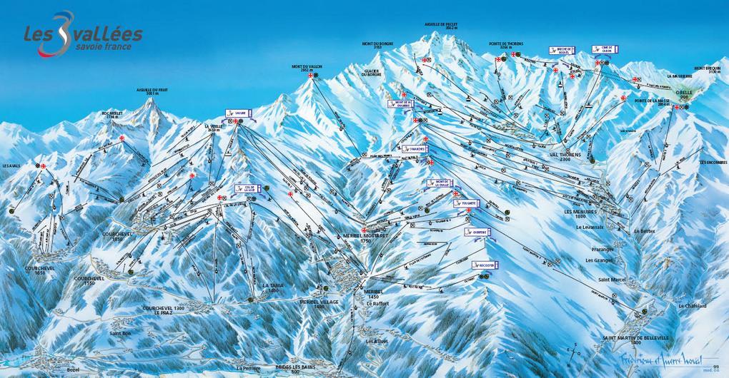 Схема трасс горнолыжного курорта Ла Танья