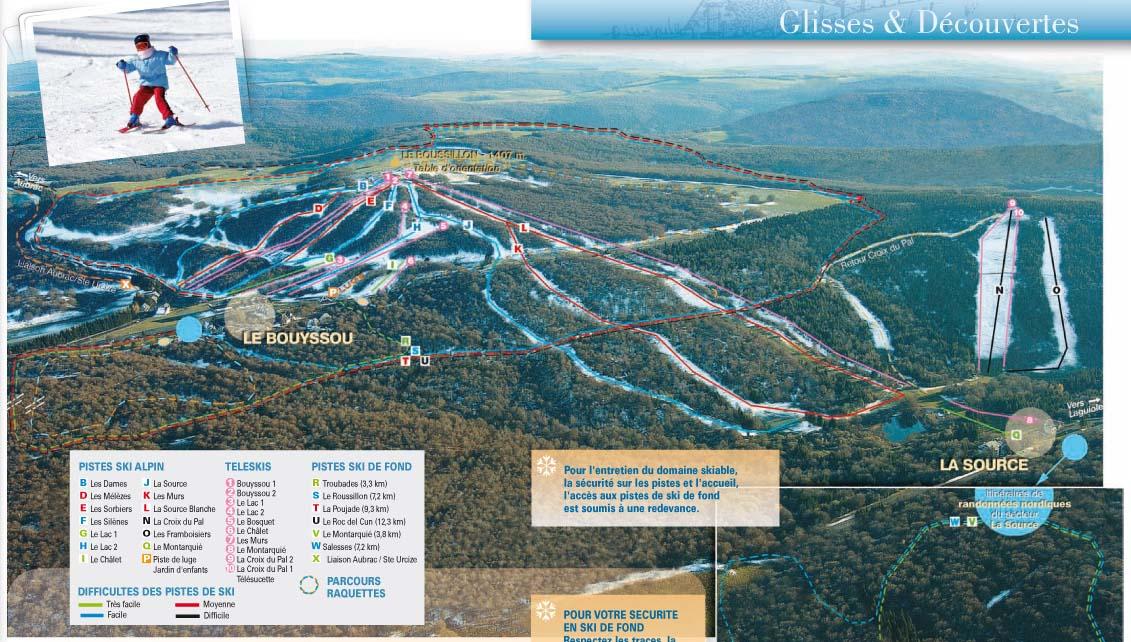 Схема трасс горнолыжного курорта Лагиоль