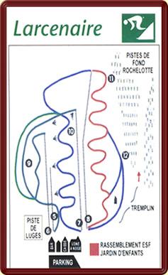 Схема трасс горнолыжного курорта Бюсан - Ларсенаир