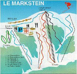 Схема трасс горнолыжного курорта Ле Маркштайн