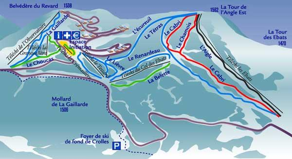 Схема трасс горнолыжного курорта Савойя Гранд Рево