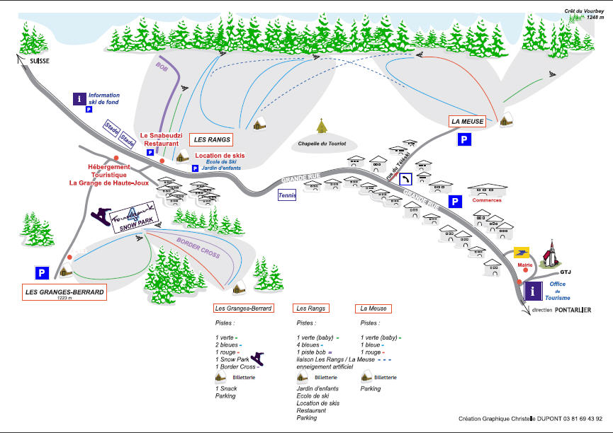 Схема трасс горнолыжного курорта Ле Фур