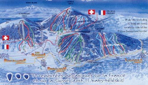 Схема трасс горнолыжного курорта Ле Русс