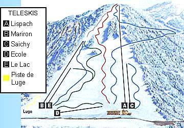 Схема трасс горнолыжного курорта Ла Бресс Лиспак