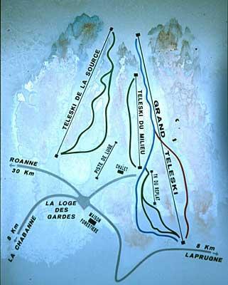Схема трасс горнолыжного курорта Ла Лож де Гард