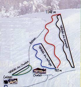 Схема трасс горнолыжного курорта Ла Планш де Бель Фий