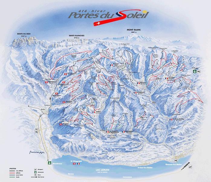 Схема трасс горнолыжного курорта Морзин
