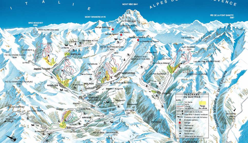Схема трасс горнолыжного курорта Молин ан Кейра