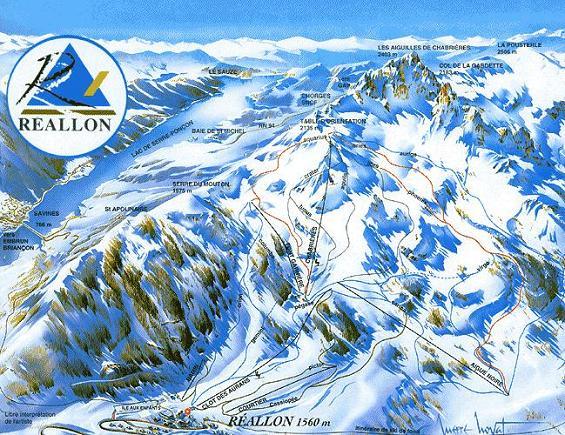 Схема трасс горнолыжного курорта Реаллон