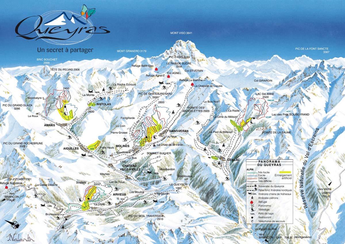 Схема трасс горнолыжного курорта Ристола