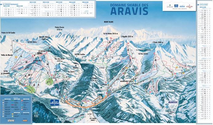 Схема трасс горнолыжного курорта Сен Жан де Сикст