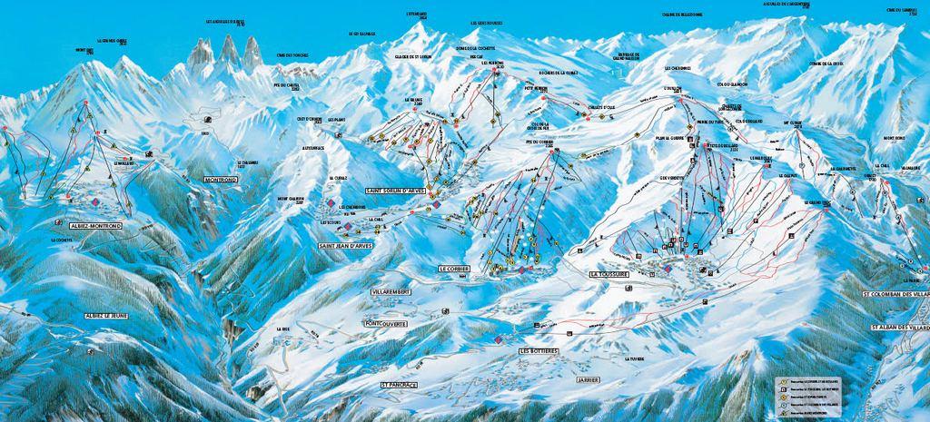 Схема трасс горнолыжного курорта Сен Сорлен д'Арв