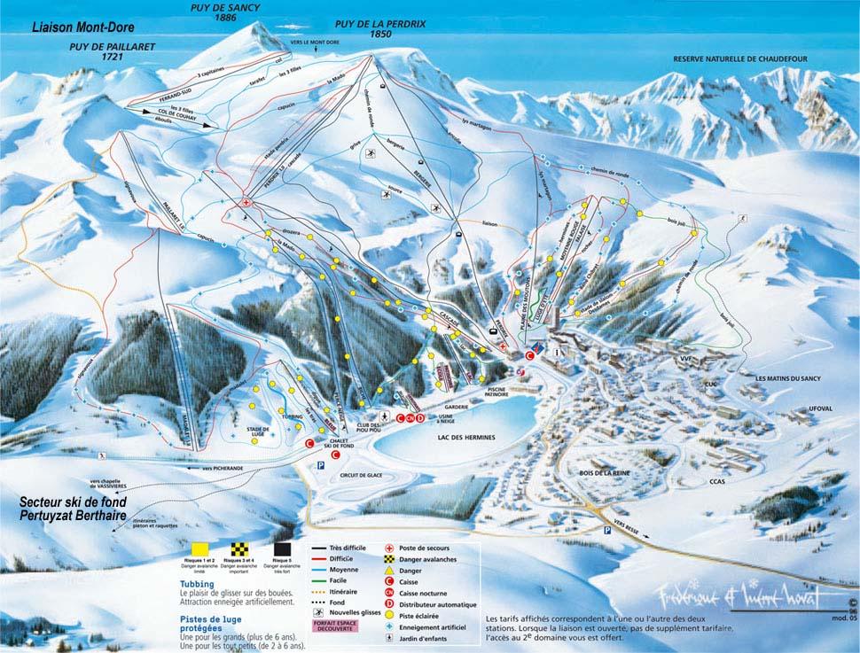 Схема трасс горнолыжного курорта Бессе Супер Бессе