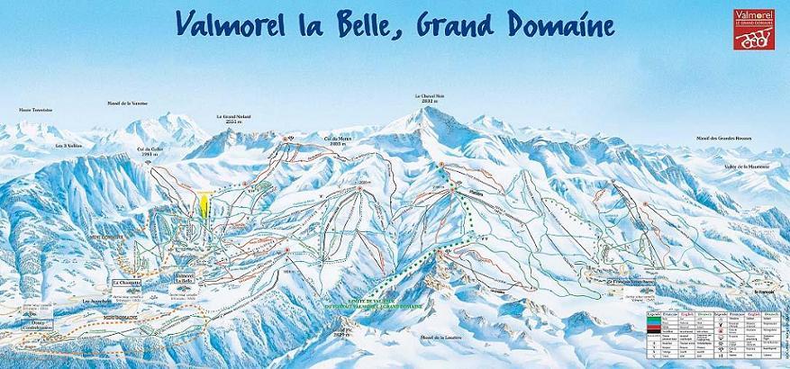 Схема трасс горнолыжного курорта Вальморель