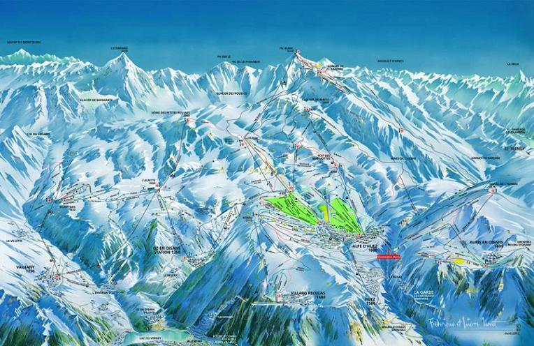 Схема трасс горнолыжного курорта Вожани