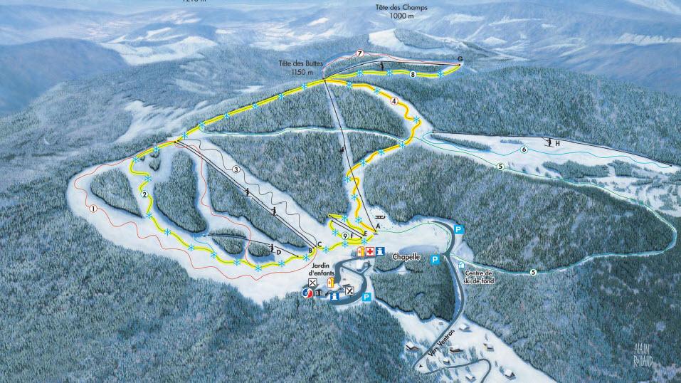 Схема трасс горнолыжного курорта Вентроне