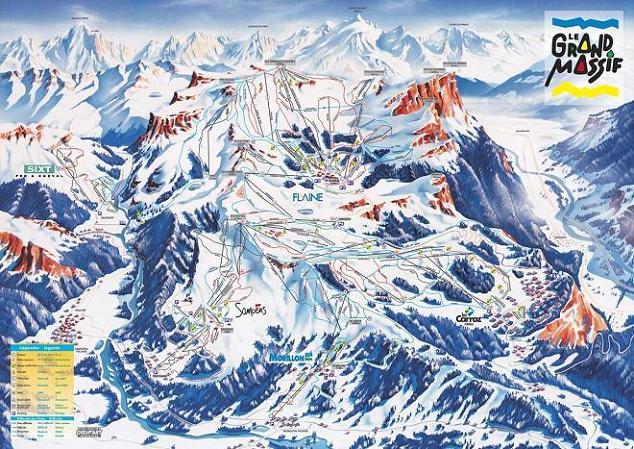 Схема трасс горнолыжного курорта Ле Карро