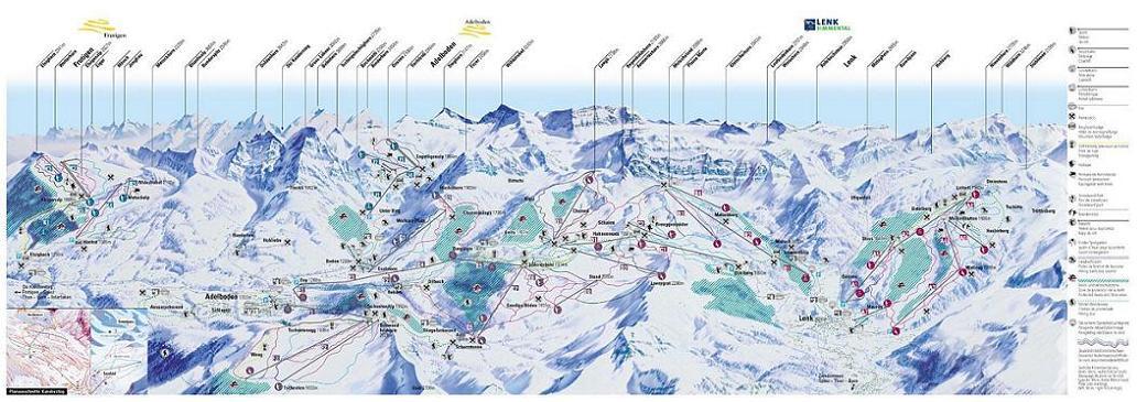 Схема трасс горнолыжного курорта Адельбоден