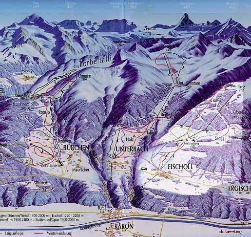 Схема трасс горнолыжного курорта Еишолл