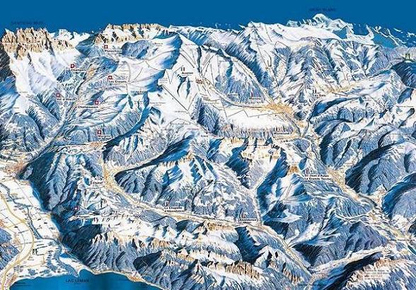Схема трасс горнолыжного курорта Ле Крозе