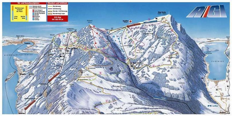 Схема трасс горнолыжного курорта Риги